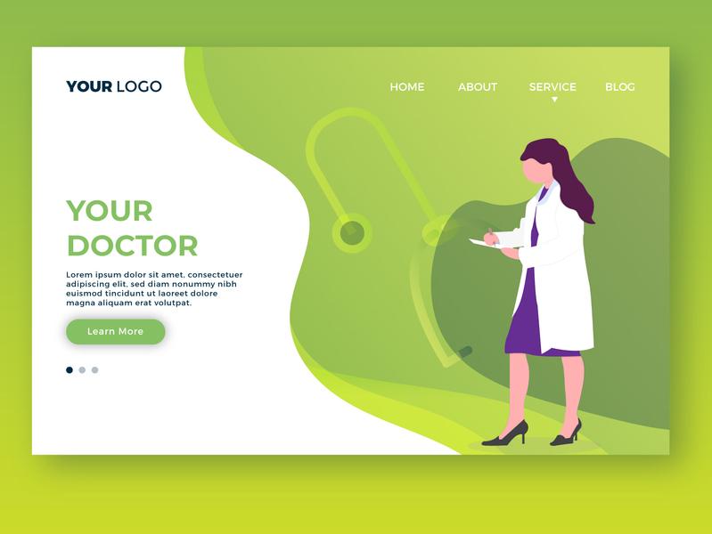 Your Doctor Landing Page web design website webdesign ui design ui  ux uidesign ui page landing doctor your doctor landing page
