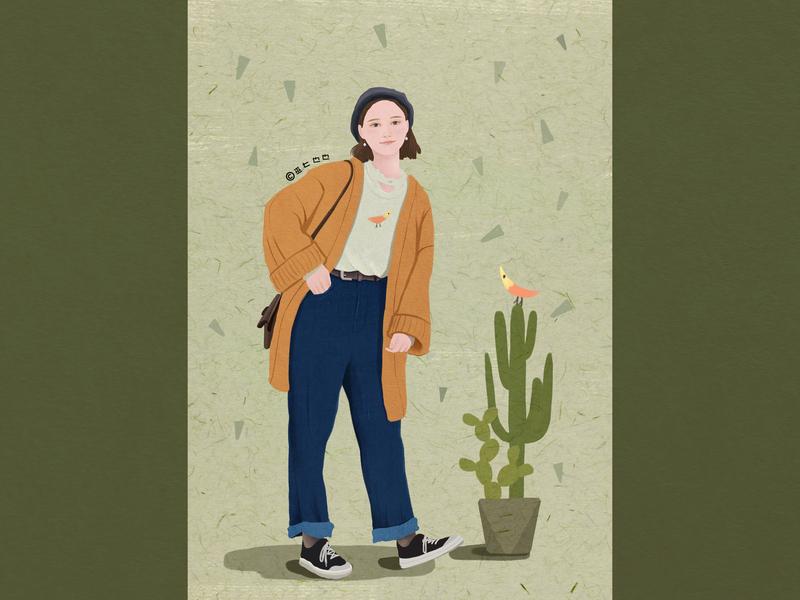 Cactus story design illustration