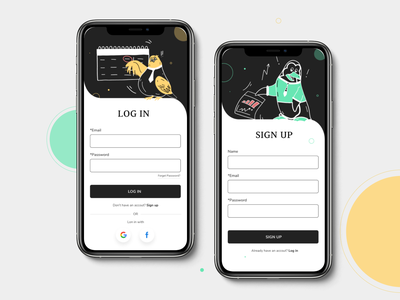 Sign up screens ui design app signup interfacedesign 001 001 uidesign
