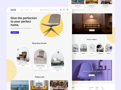 Chair landingpage website uiux landingpage design app interfacedesign