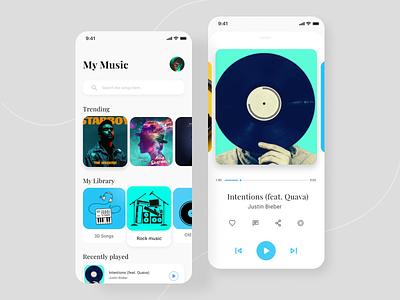 Music player ui 001 uidesign dailyui interfacedesign music player