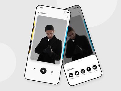 Social share uiux socialshare app dailyui ui design interfacedesign