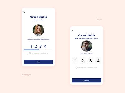 Code verification [Carpool App] carpooling carpool uidesign app design ux ux design ui