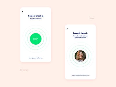 Ultrasound verification [Carpool App] sound carpooling carpool uidesign app design ux ux design ui