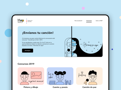Landing page [student's talent contest]