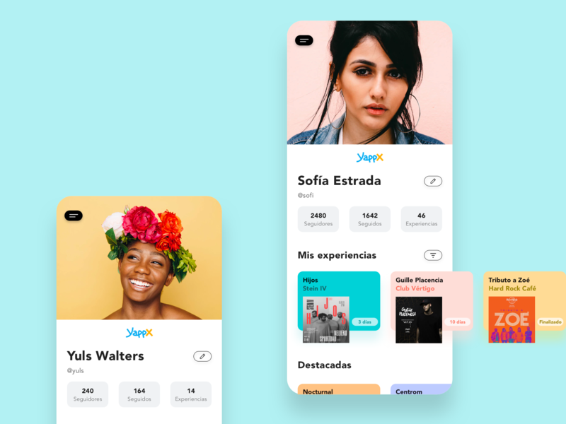 Profile [events app] profile ux ux design app ui daily ui dailyui
