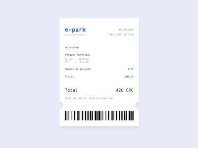 Email receipt [parking app]
