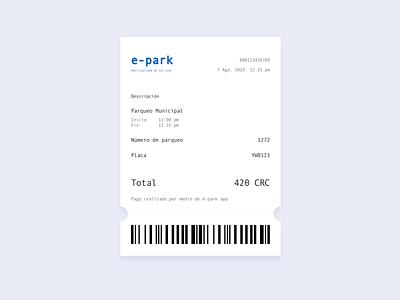 Email receipt [parking app] receipt app ux design ux uidesign ui daily ui dailyui
