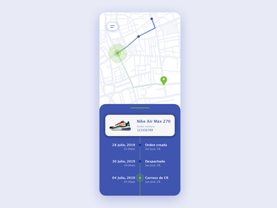 Location tracker [package] shopping package app ux design ux uidesign ui daily ui dailyui