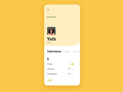 Home monitoring dashboard app ux design ux uidesign ui daily ui dailyui