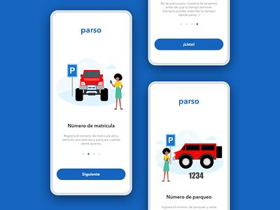 Onboarding [parking app] design illustration app ux design ux uidesign ui dailyui daily ui