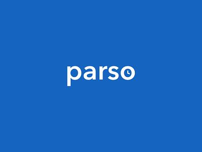 Parso Logo app icon typography branding logo