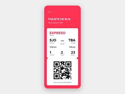 Boarding pass [bus] boarding ticket bus app design ux design ux uidesign ui daily ui dailyui