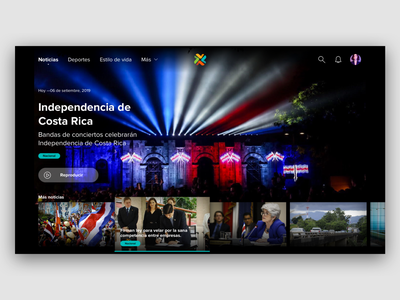 TV app [tv news] news tv app app ux design ux uidesign ui dailyui daily ui