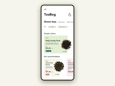 Tea shop [e-commerce] webapp app design ui tea store ecommerce app ecommerce