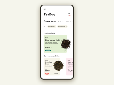 Tea shop [e-commerce]