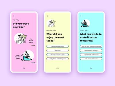 Lifestyle [app feedback] lifestyle feedback illustration uidesign app design ui ux ux design