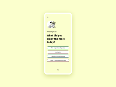 Lifestyle [app feedback] feedback lifestyle illustration uidesign app design ux ux design ui