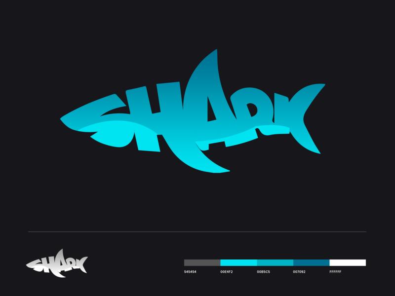 Shark Typography Logo