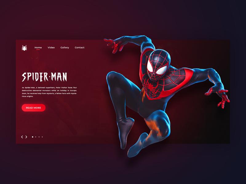 Marvel - Spider Man Daily UI