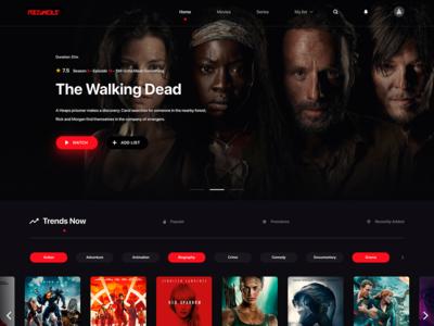 Movies website template
