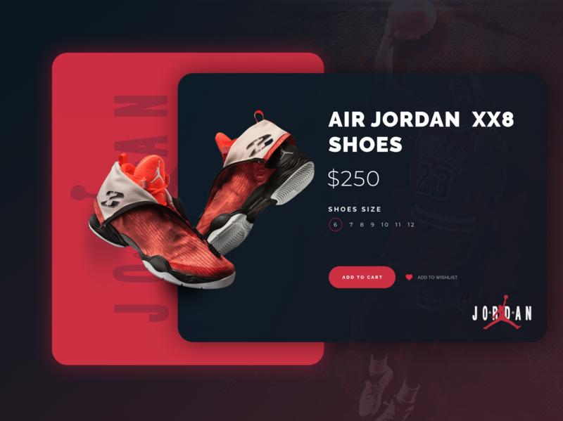 Air Jordan Basketball Shoes Shop UI