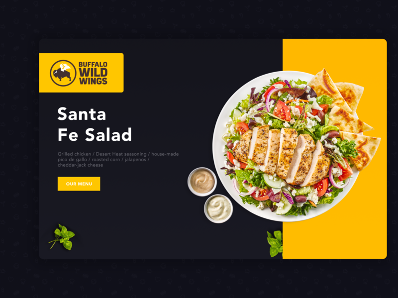 Santa fe salad food menu page