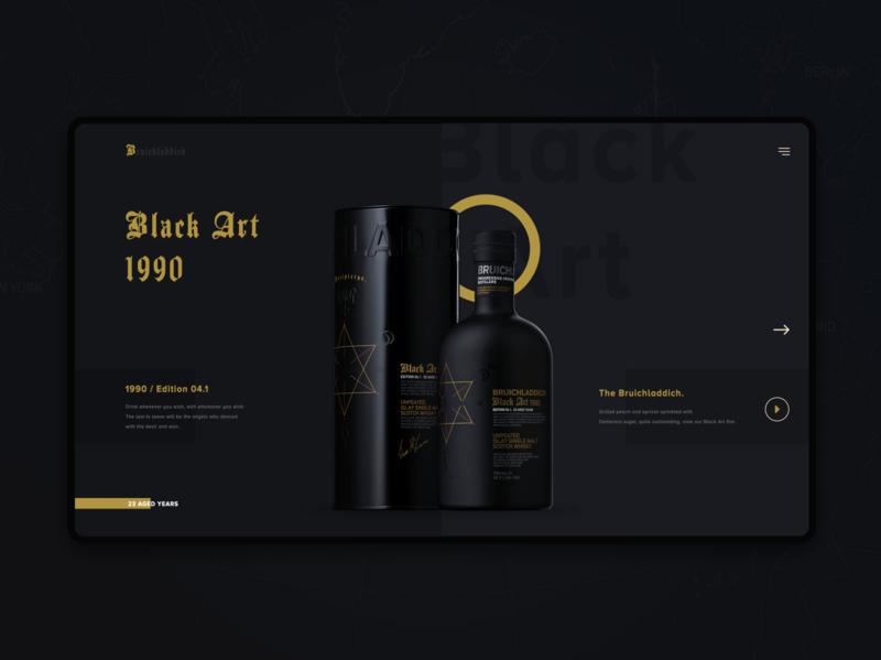 Black Art Product shop ui