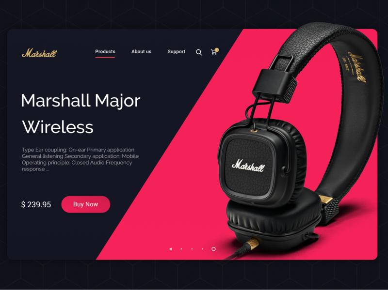 Electronic Product Shop UI