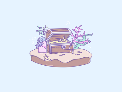 Treasure Chest Icon treasure chest cute art cute illustration cute artwork artist art logo design illustrator logo design clean illustration vector simple icon artwork icon design iconography icons icon