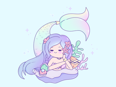Mermay #1 mermaid cute illustration cute art cute artwork artist art icons icon design iconography icon artwork illustration logotype flat vector simple icon logo design clean