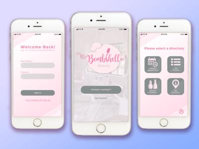 Bombshell Beauty App Concept