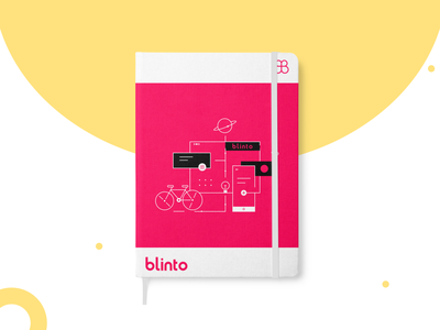 Blinto Rebrand: Notebook 🦋 2020 sticker design color palette red rebranding inspiration artboard mockup notebook design marketing agency ux ui logo typography illustration graphic design trend colorful branding minimal