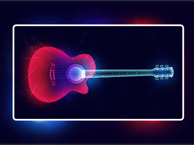 Fantasy Light | Guitar inspiration landing page branding ibanez gibson yamaha graphic design minimal ux ui trend guitar music ilya shapko red blue artwork colorful illustration 2019