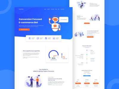 Project Blank | Chatbot Landing Page