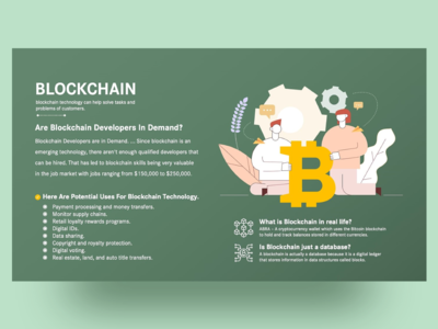 Free Blockchain Technology PowerPoint Slide