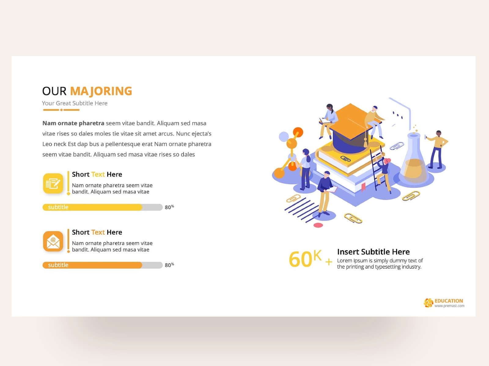 Education Powerpoint Presentation Template By Premast On Dribbble