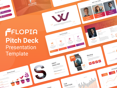 Flopia Pitch Deck Presentation Template solutions investment corporate colors product project teamwork work slides pptx clean presentation creative powerpoint design infographic business powerpoint template
