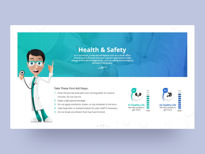 First Aid PowerPoint Presentation Template testimonial first aid kit medical design doctor hospital first aid medical ppt template illustration pptx clean presentation creative powerpoint design infographic business powerpoint template