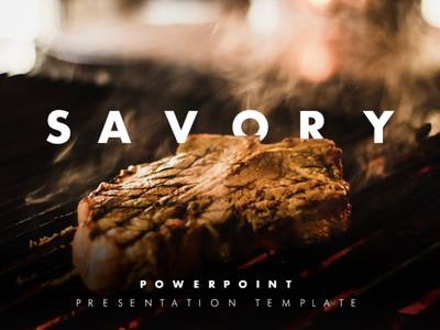 Savory Food PowerPoint Presentation Template food food and drink delicious minimal cook dish about us slides pptx clean presentation creative powerpoint design infographic business powerpoint template