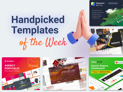 Our Handpicked Templates of the week 🔥 pptx agency presentation template 3d clean slides top handpicked presentation creative powerpoint infographic design business powerpoint template