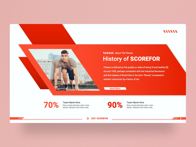 Scorefor – Sports and Fitness PowerPoint Presentation Template fitness sport slides pptx clean presentation creative powerpoint infographic design business powerpoint template scorefor