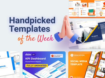 Our Handpicked Templates of the week 🔥 kpi portfolio pitchdeck lesson education socialmedia dashboard dashboard design it general lesson slides pptx clean presentation creative infographic powerpoint design business powerpoint template