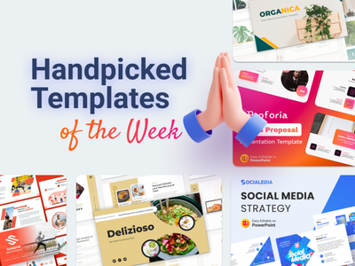Our Handpicked Templates of the week 🔥 mock-up vectors food social media design sports sales sales proposal social media fitness sport slides pptx clean presentation creative infographic powerpoint design business powerpoint template