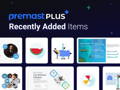 Premast Plus Recently Added Items smart vector graphics vector charts financial education medical dashboard icons chart slides pptx clean presentation creative infographic powerpoint design business powerpoint template