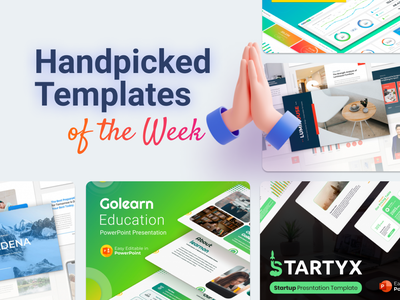 Our Handpicked Templates of the week 🔥 chart food maps icons vectors education startup dashboard design dashboard ui dashboard slides pptx clean presentation creative infographic powerpoint design business powerpoint template
