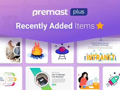 Premast Plus Recently Added Items dashboard ui charts dashboard medical education financial chart vector graphics smart vector slides pptx clean presentation creative infographic powerpoint design business powerpoint template
