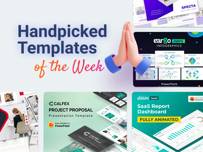 Our Handpicked Templates of the week 🔥 matrix infographic matrix table chart dashboard ui project proposal dashboard saas report saas design saas slides pptx clean presentation creative infographic powerpoint design business powerpoint template