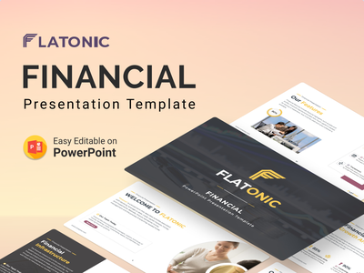 Flatonic – Financial PowerPoint Presentation Template financial financial app reporting chart mission vision financial service f logo illustration presentation creative infographic powerpoint design business powerpoint template