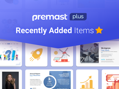 Premast Plus Recently Added Items dashboard chart dashboard ui medical education financial marketing business plan character vector ui logo illustration presentation creative infographic powerpoint design business powerpoint template